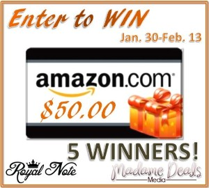 Five Winners: $50 Amazon Gift Cards – #MadameDealsEvents