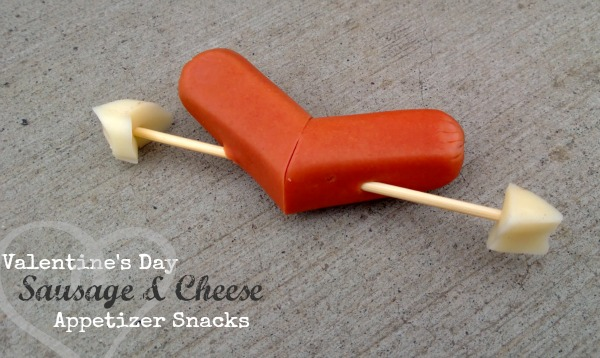 Valentine's Day Sausage & Cheese Appetizer Snacks