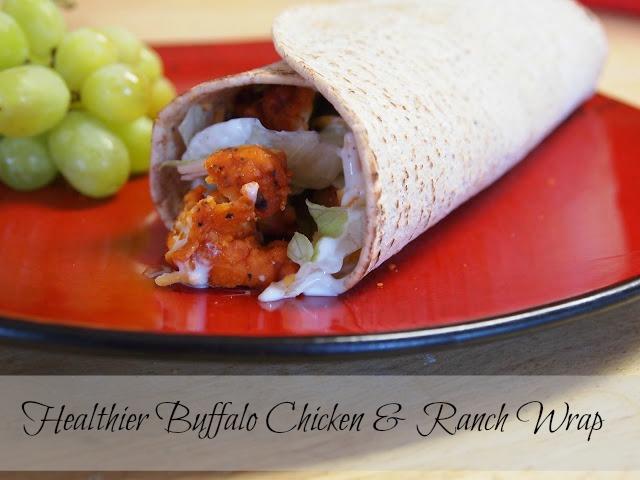 Healthier Buffalo Chicken & Ranch Wrap