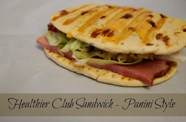 Healthier Club Sandwich - Panini Style