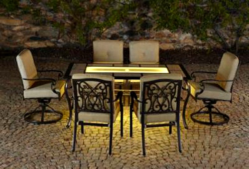 Lighted patio furniture