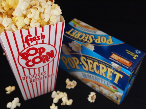 Movie night popcorn with Pop Secret