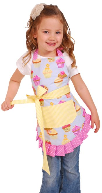 cupcake print apron for little girls
