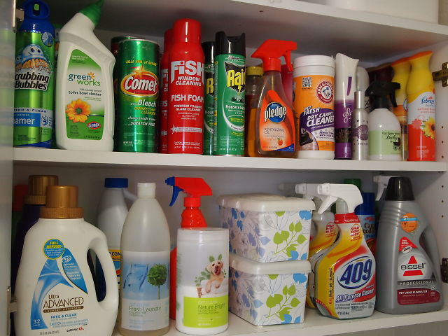 Organize your cleaning products