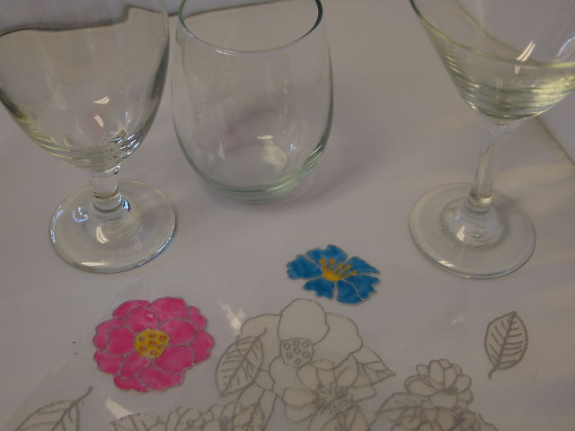 making painted wine glasses