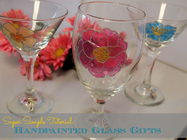 Handmade Gift Idea: Painted Cocktail Glasses