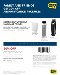 air purifier coupon