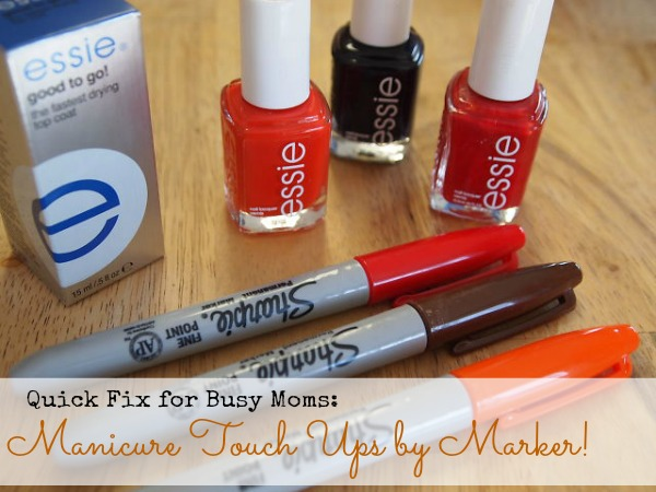 manicure touch ups with markers