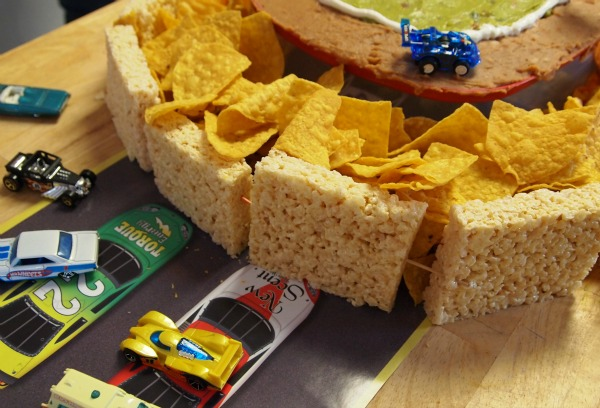 Snack track for race car parties