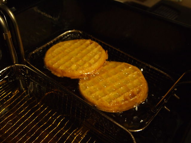 deep frying waffles