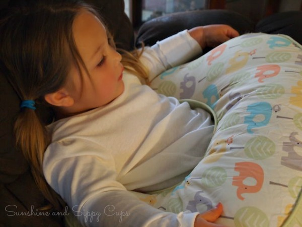 Toddlers love nursing pillows too