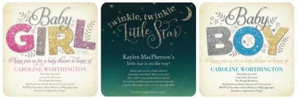 Unique baby shower invitations