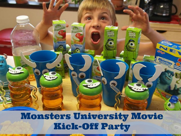 Monsters University Movie Party Ideas - #MUJuice