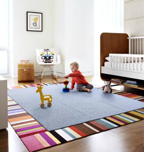 Fleece and Thanks rug for toddlers