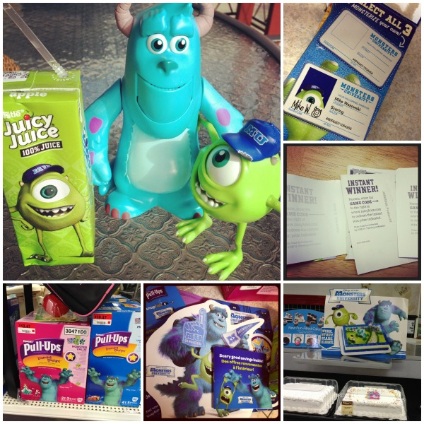 Monsters U freebies and promos at Walmart