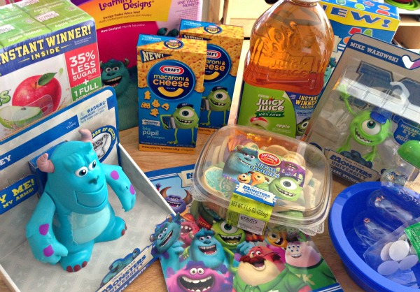 Monsters University products available at Walmart