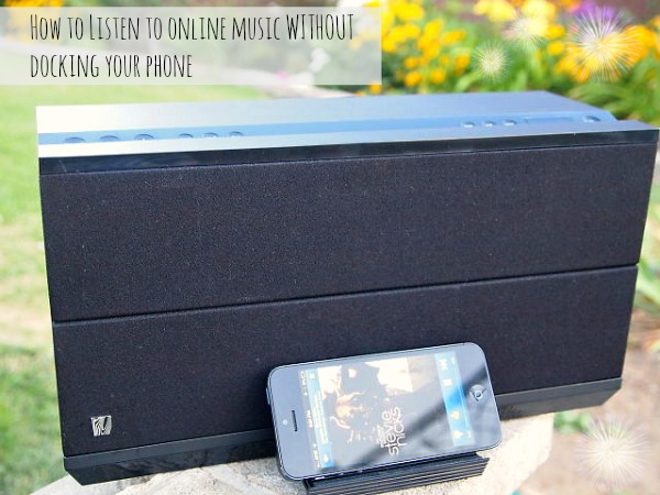 how to listen to online music without docking your phone
