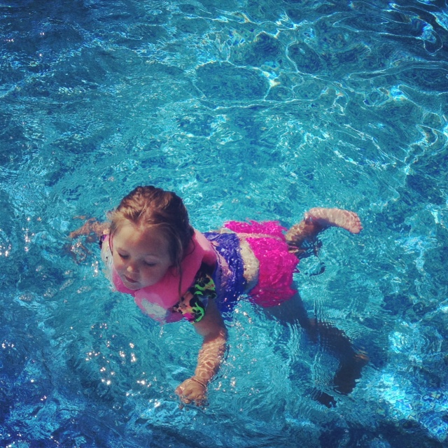 Abby swimming