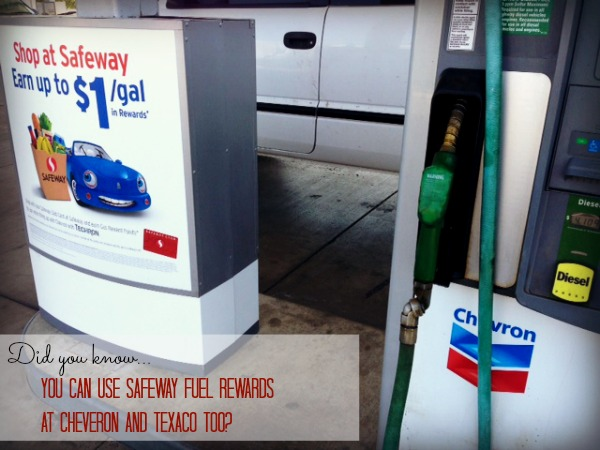 You can use Safeway fuel rewards at Chevron stations too!