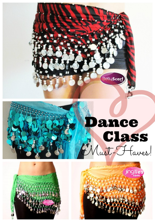 Jinglies belly dancing scarves - dance class must-haves