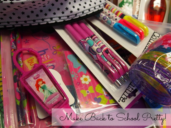 Make back to school pretty with fun school supplies!