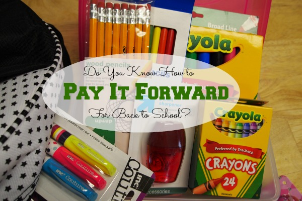 Pay it Forward for back to school