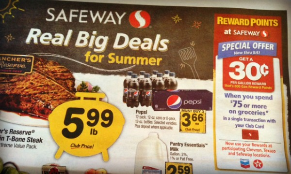 Safeway ad - fuel rewards