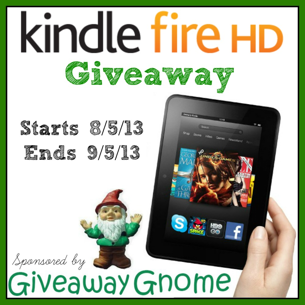 Giveaway Gnome App Launch & Kindle Fire HD Giveaway!