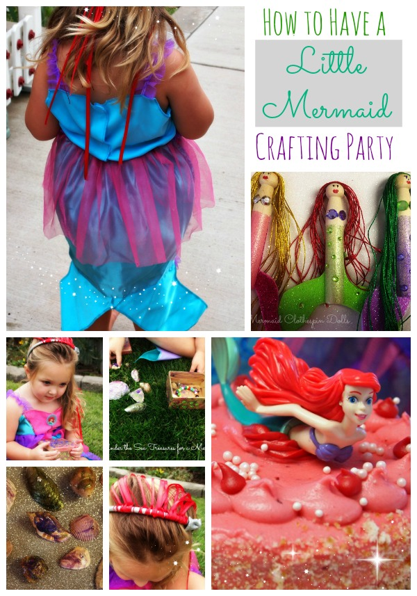 How to have a Little Mermaid Crafting Party