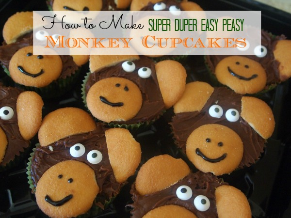 How to Make Easy Peasy Monkey Cupcakes