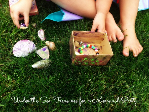 Mermaid Party - The Little Mermaid - making under the sea treasures