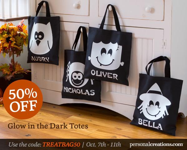 Glow in the dark Halloween Bags