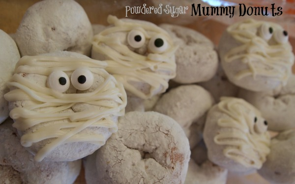 Powdered Sugar Mummy Donuts
