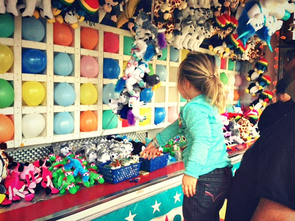 Carnival games at the Central Washington State Fair