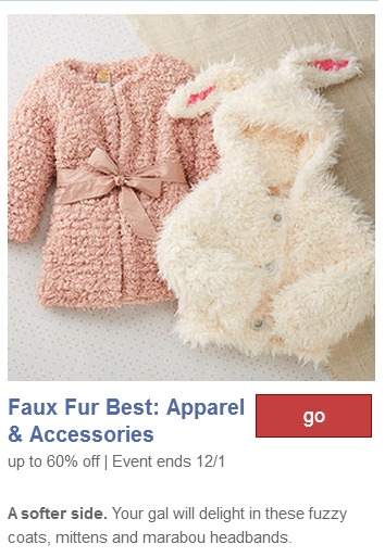 Faux fur fashion for girls