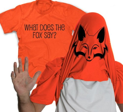 What does the fox say tee shirt