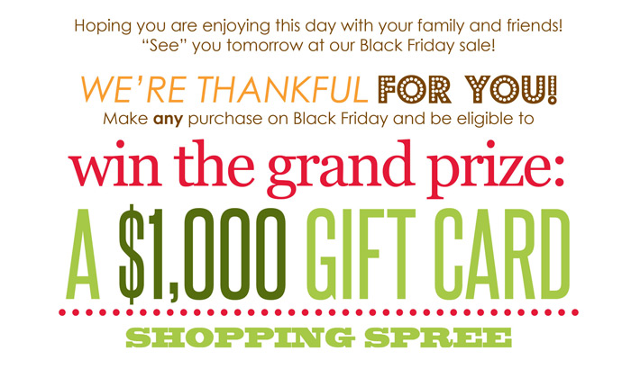 Black Friday Gift Card Giveaway