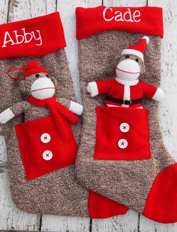 Sock Monkey stockings