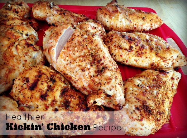Healthier kickin chicken recipe