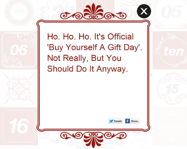 Buy yourself a gift day
