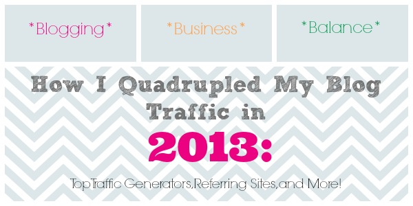 How I Quadrupled My Blog Traffic in 2013