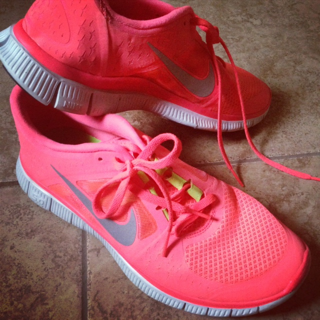 Pink Nike shoes - #GetMotivated to lose weight this year with Best Buy!