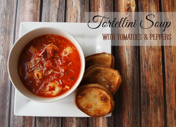Tortellini Soup with Tomatoes and Pepper