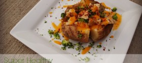 Super healthy, super loaded, stuffed baked potato recipe from weight watchers