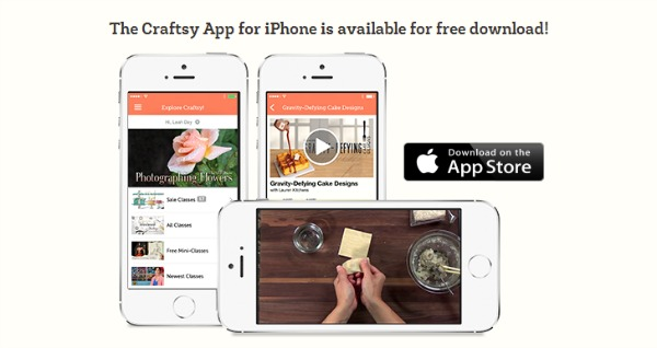 Craftsy iPhone free app