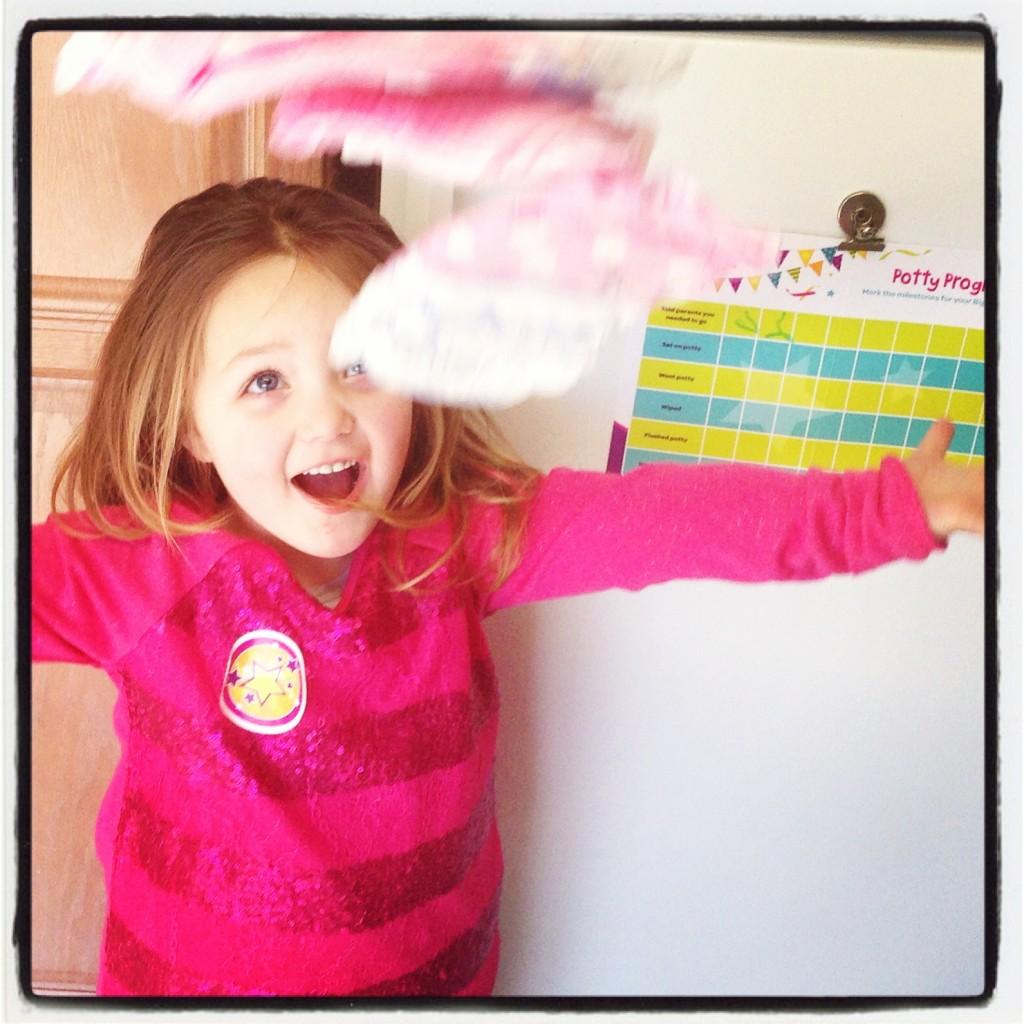 Celebrate potty training successes!