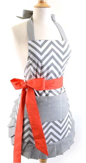 Chevron printed apron