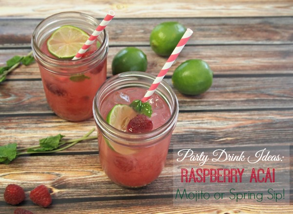 Raspberry Mojito Recipe for Girl's Night Parties!