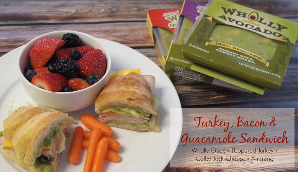 Turkey, Bacon & Guacamole Sandwich Recipe – #15MinuteSuppers