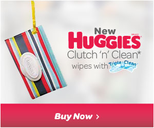 Huggies stylish baby wipes